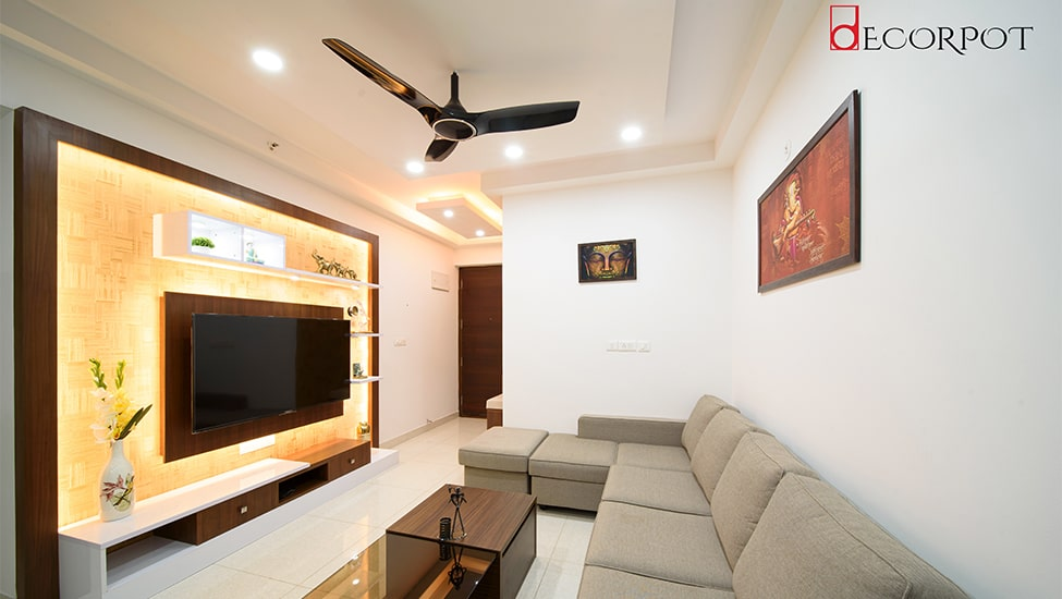 Home interior designer in Bangalore - A Finesse of Simplicity - A DECORPOT PROJECT