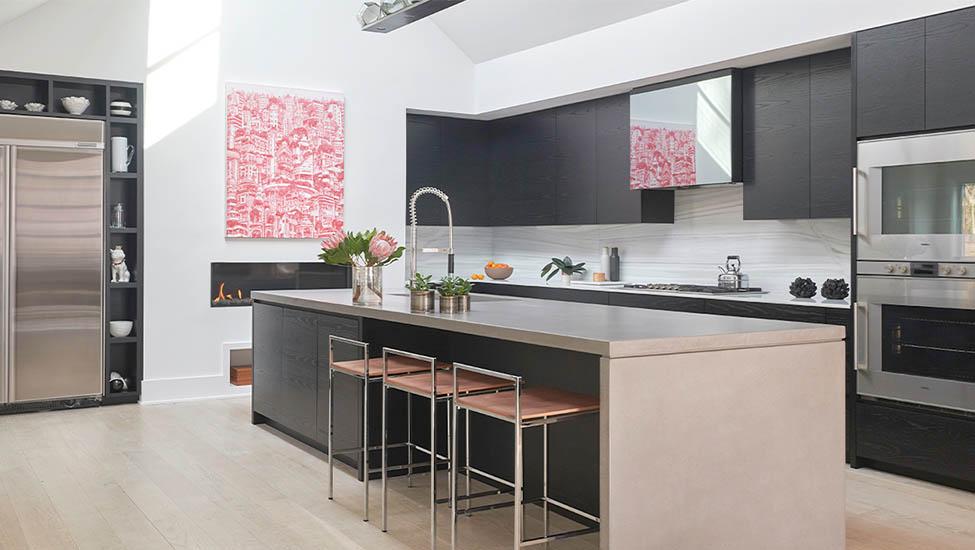 Home interior designer in Bangalore - Modern Concrete Countertops Kitchen Ideas for Your Home