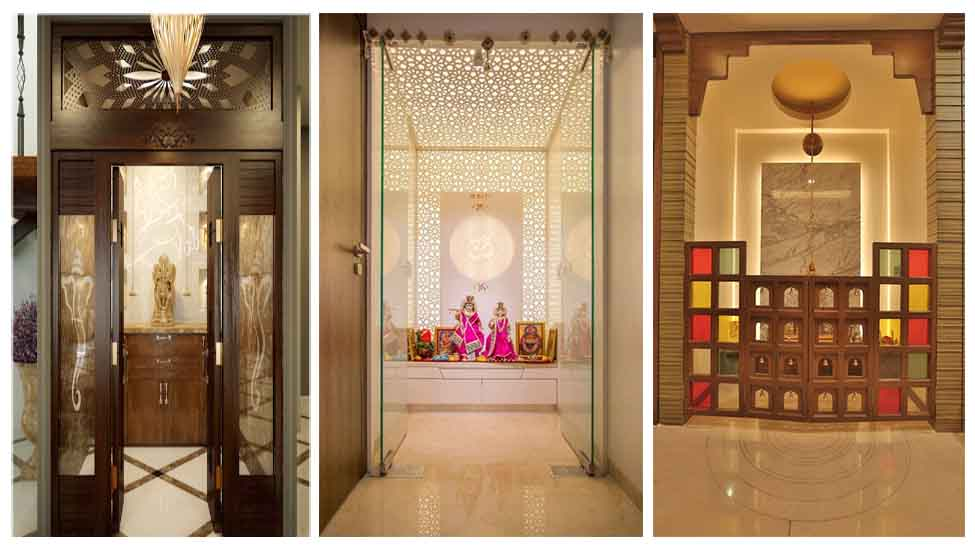 Home interior designer in Bangalore - Inspiring and Gorgeous Pooja Room Door Designs for Your Home