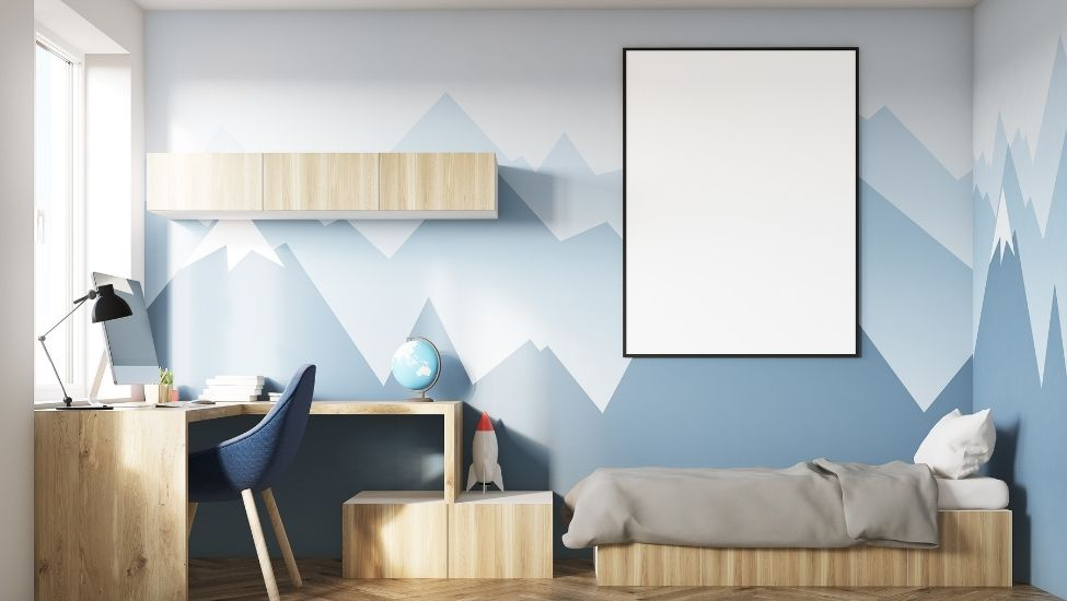 Home interior designer in Bangalore - COLOURFUL GEOMETRIC WALL PATTERNS FOR THE MODERN HOME