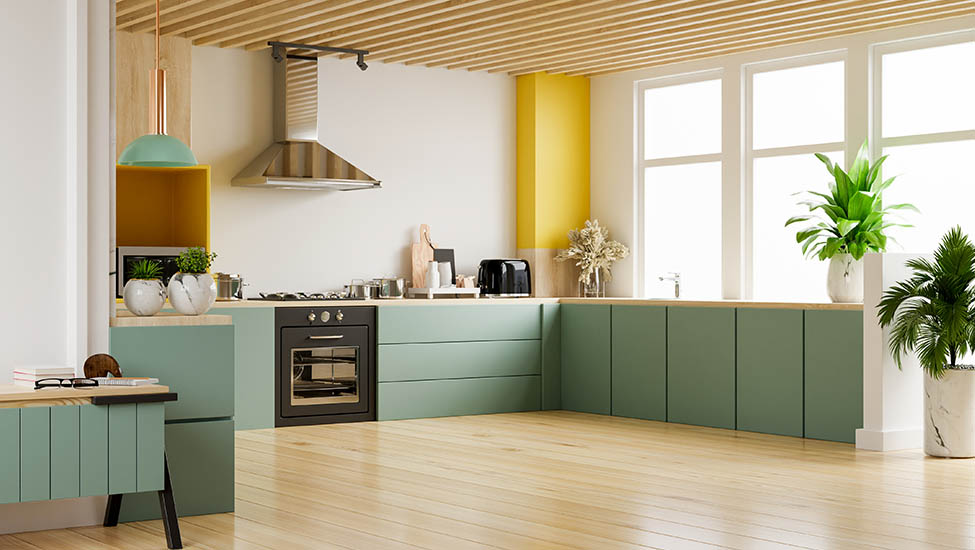Home interior designer in Bangalore - 8 Awesome and Trendy Colour Combinations for Your Kitchen