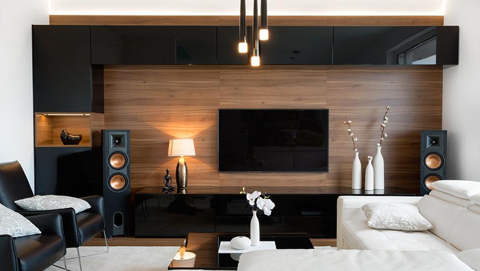 Home interior designer in Bangalore - Modern TV Unit Designs with Storage Inspiration Ideas