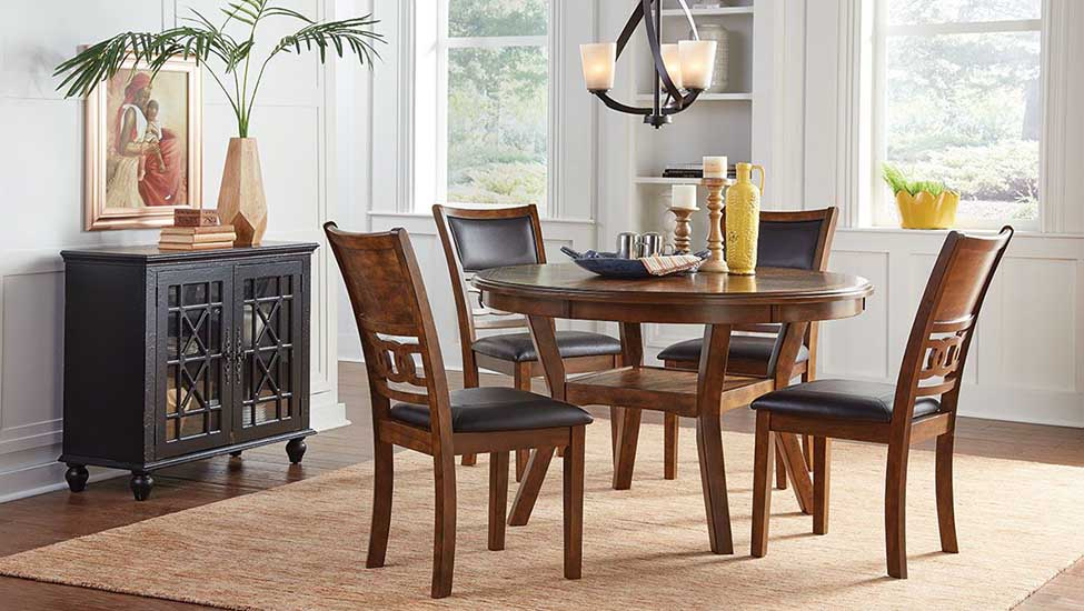 Home interior designer in Bangalore - Classic and Trendy Wood Pedestal Dining Tables
