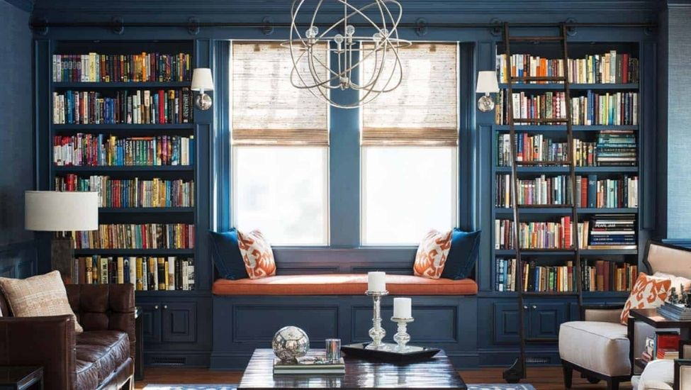 Best home interior designers in Bangalore - Beautiful Home Library Design Ideas To Inspire You