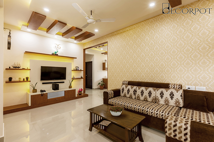 Interior Design Firm In kasavanahalli-Living-Room 3BHK, Bangalore