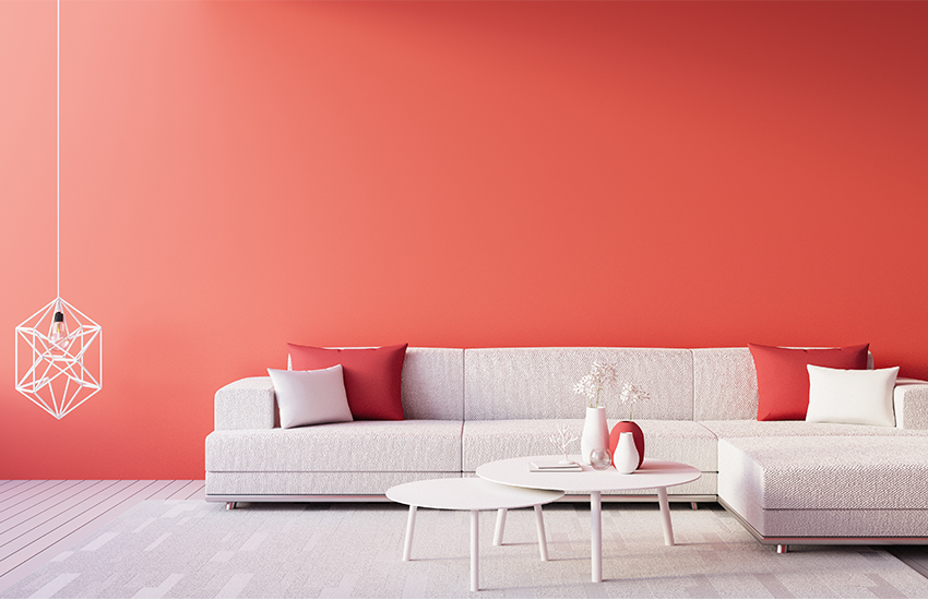 A Living Room in Warm Red