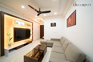 Home interior designers in Bangalore - A Finesse of Simplicity - A DECORPOT PROJECT