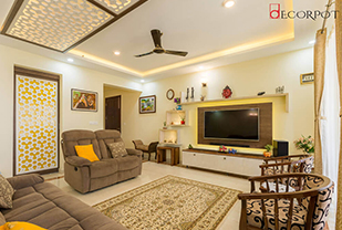 Home interior designers in Bangalore - An artsy yet earthen abode!