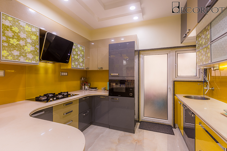 Interior Design Company In HSR-Lauout-Kitchen 3BHK, Bangalore