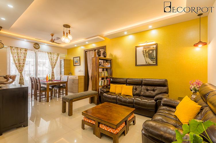 Interior Design Firm In Sarjapur-Living-Room 3BHK, Bangalore