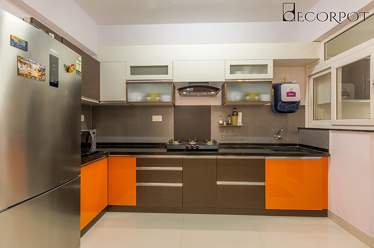 L Shaped Kitchen Interior Design-6.Kitchen-2BHK, Electronic City, Bangalore