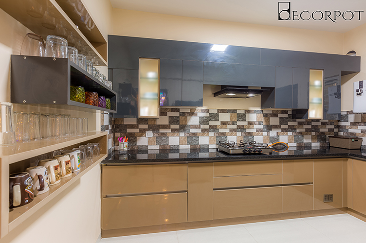 L Shaped Kitchen Interior Design-Kitchen-3BHK, Sarjapur Road, Bangalore