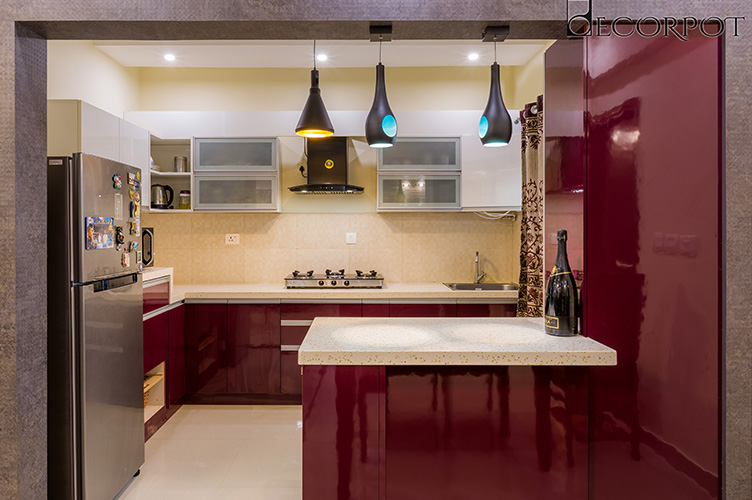 L Shaped Kitchen Interior Design-Kitchen-3BHK, Whitefield, Bangalore