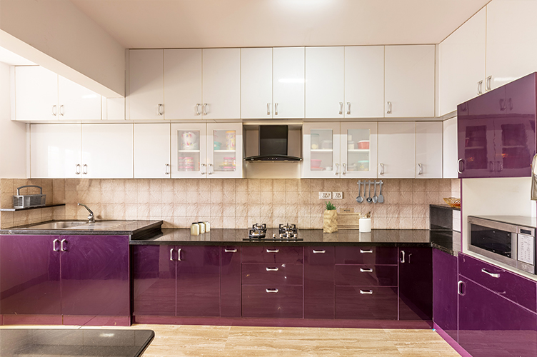 L Shaped Kitchen Interior Design-Kitchen-3BHK, Bommanahalli, Bangalore