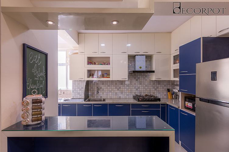L Shaped Kitchen Interior Design-Kitchen CounterTop-3BHK, Jakkasandra, Bangalore