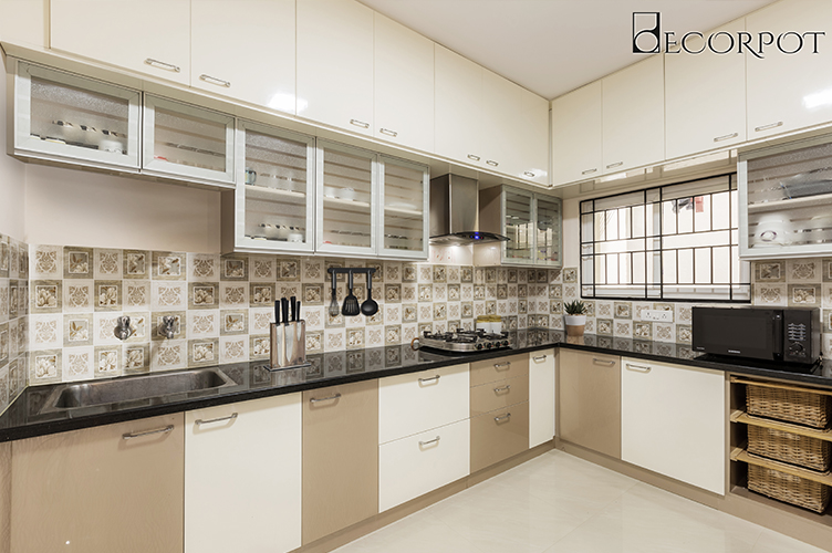 L Shaped Kitchen Interior Design-3.Kitchen-2BHK, Kasavanahalli, Bangalore