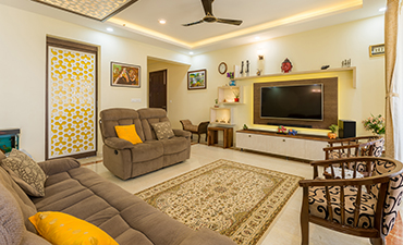 Best Living Room Interior designers in bangalore