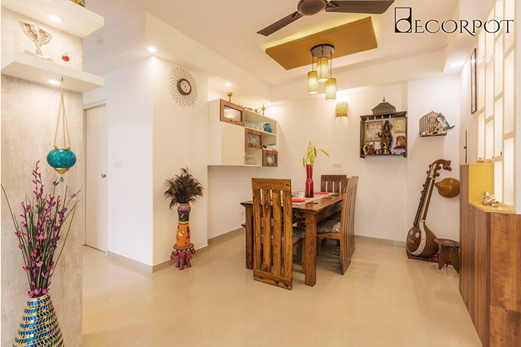 Dining Room Interior Design-4.Dining-2BHK, Akshay Nagar, Bangalore