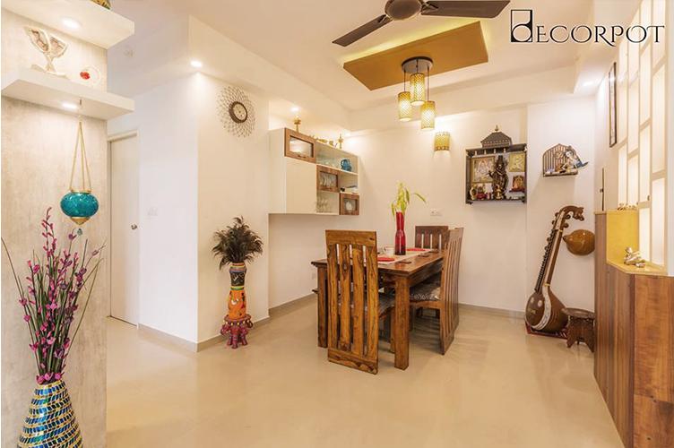3BHK Sarjapur Road Bangalore Living Room Interiors Dining Interior Design 3