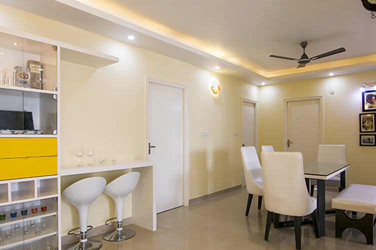 Dining Room Interior Design-3.Dining-3BHK, Sarjapur Road, Bangalore