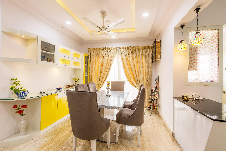 Dining Room Interior Design- 3.Dining-3BHK, Bommanahalli, Bangalore