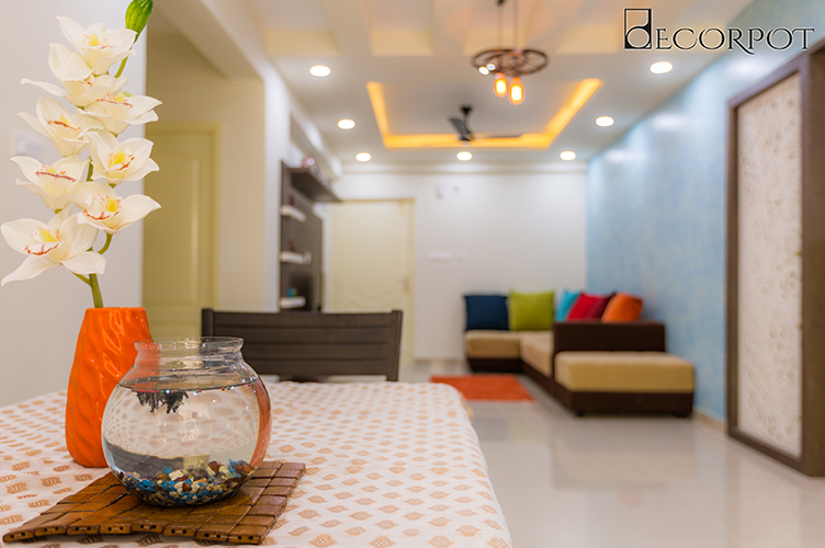 Dining Room Interior Design-dining -3BHK, Krishnarajapura , Bangalore