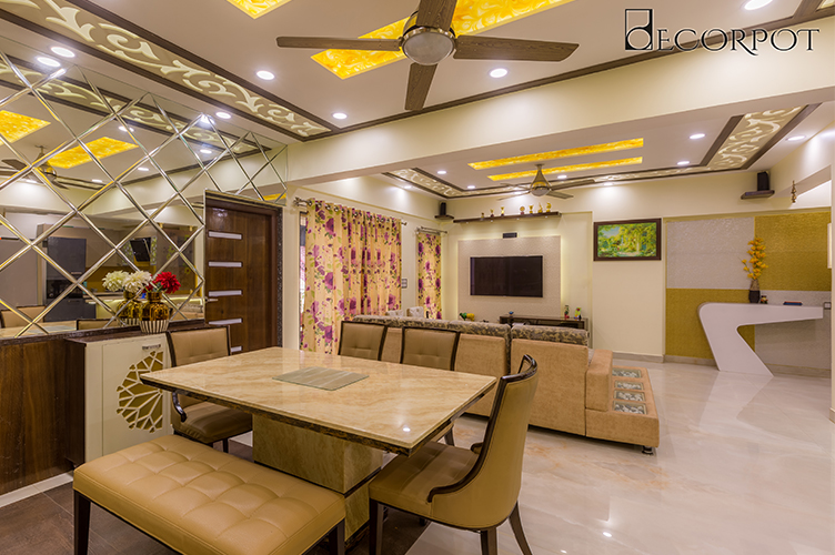 Dining Room Interior Design-Dining-3BHK, HSR Layout, Bangalore