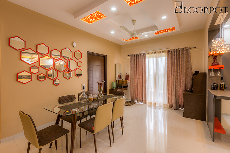 Dining Room Interior Design-Dining -3BHK, Sarjapur Road, Bangalore