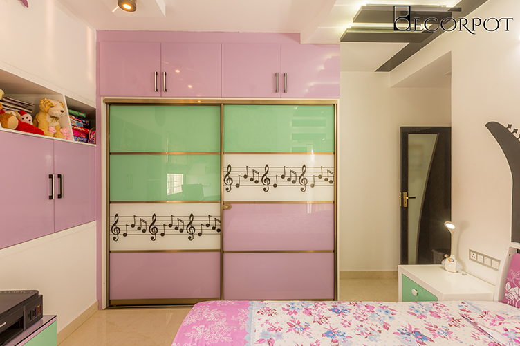 Sliding Door Wardrobe Designers-KBR 2-3BHK, HSR Layout, Bangalore