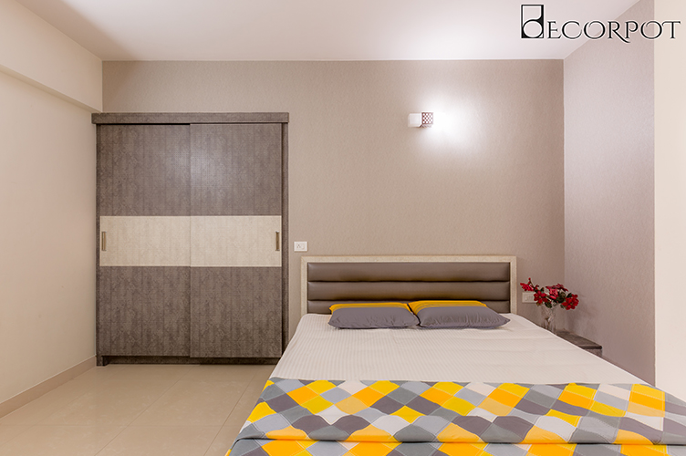 Sliding Door Wardrobe Designers-Master Bedroom -3BHK, Sarjapur Road, Bangalore