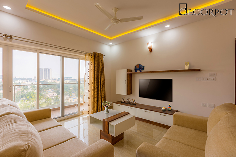Best Interior Designers In Bannerghatta-Living-Room-3BHK, Bangalore