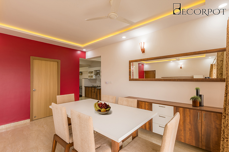 Best Interior Designers In Bannerghatta-Dining-Room-3BHK, Bangalore