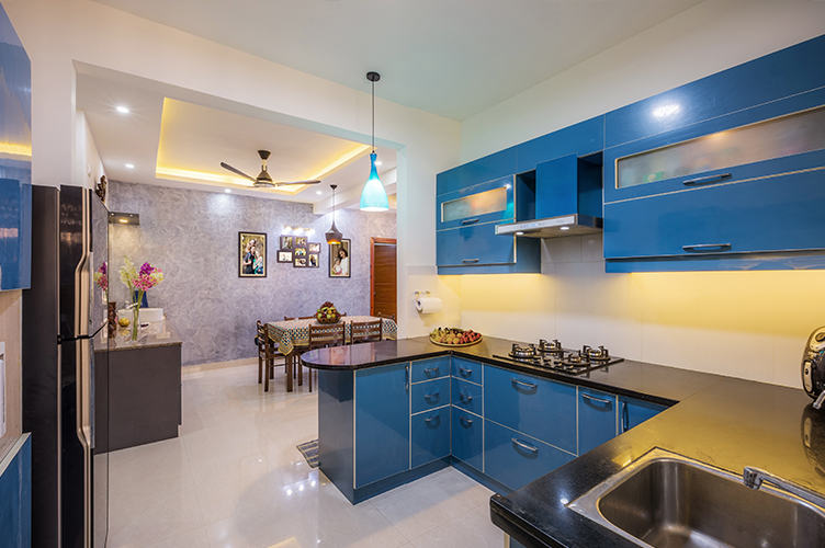 Interior Design Company In Electronic-City-Kitchen 3BHK, Bangalore