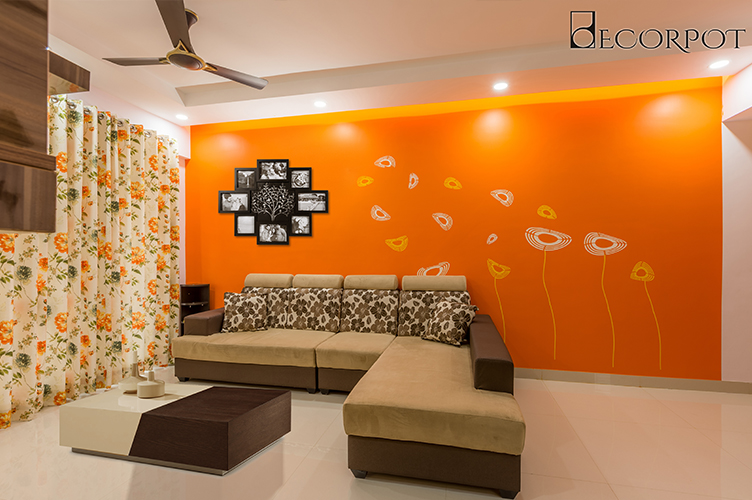 Best Interior Designers In Electronic-City-Living-Room-3BHK, Bangalore