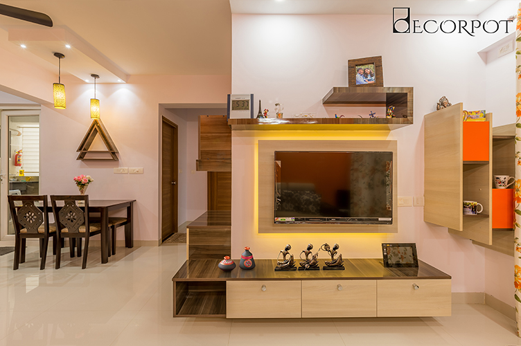 Best Interior Designers In Electronic-City-Living-Room-Tv-Unit-3BHK, Bangalore