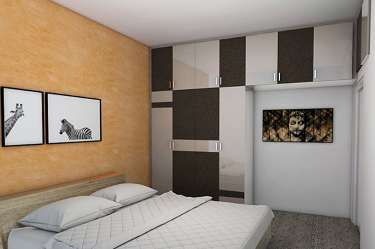 Interior Design Firm In J P Nagar-MBR 2-2BHK, Bangalore
