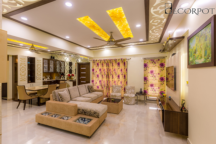 Interior Decorators In HSR Layout-Kitchen-3BHK, Bangalore