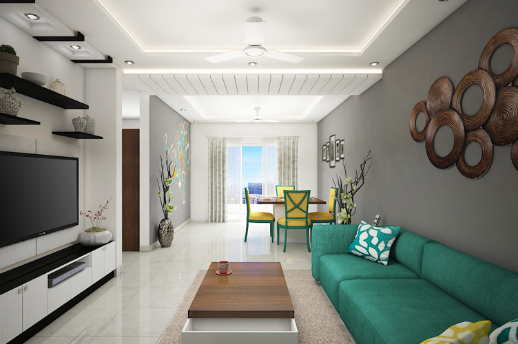Interior Design Firm In Marathahalli-Living-Area 2-3BHK, Bangalore