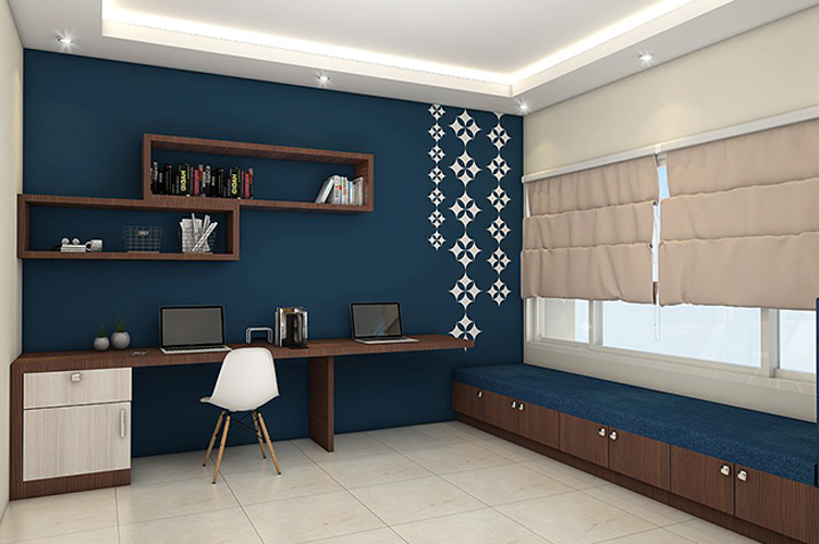Interior Design Pictures Rajajinagar-Study-Area-3BHK, Bangalore