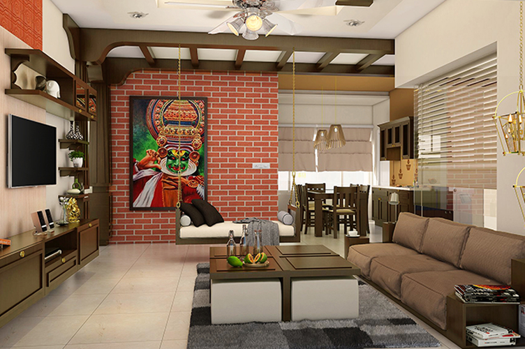 Best Interior Designers In Rajajinagar-Living-Room-TV-3BHK, Bangalore
