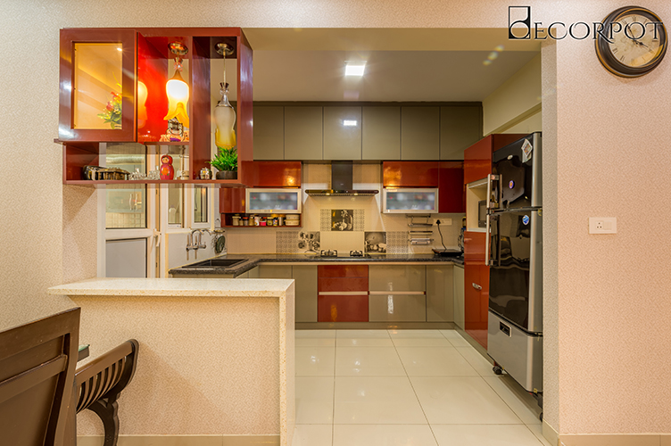 Interior Design Company In whitefield-Kitchen-3BHK, Bangalore