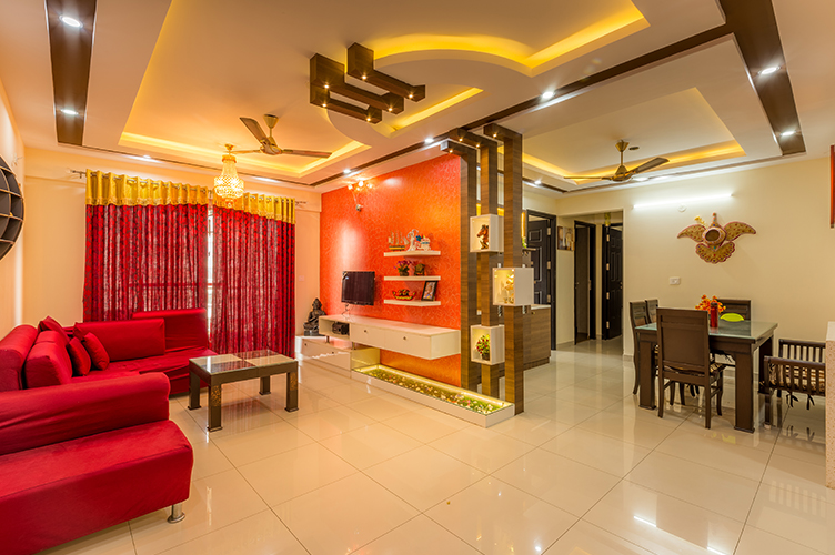 Interior Design Firm In whitefield-Living-Area 2-3BHK, Bangalore