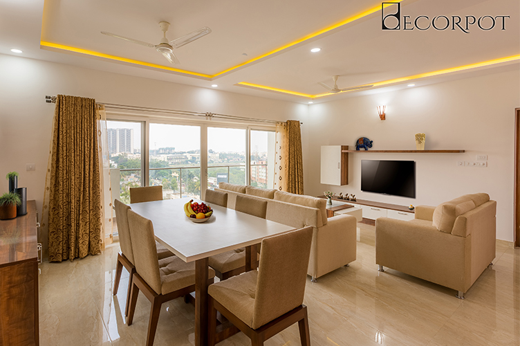 Our Living Room Interior Projects. 3BHK Interior Design Bannerghatta Road,  Bangalore