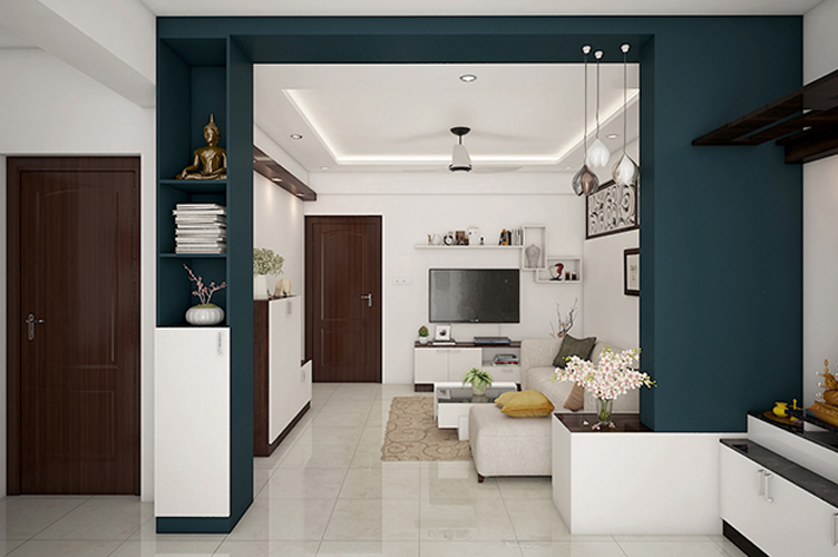 Best Interior Designers In Koramangala-Living-Room-3BHK, Bangalore