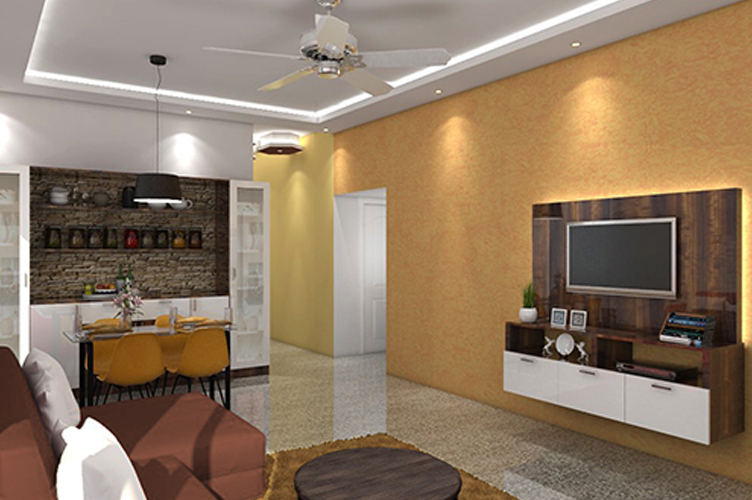 Interior Design Firm In J P Nagar-Living-Area 1-2BHK, Bangalore