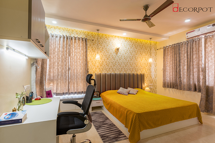 Bedroom Interior Design-5. MBR-4BHK, Bellandur, Bangalore