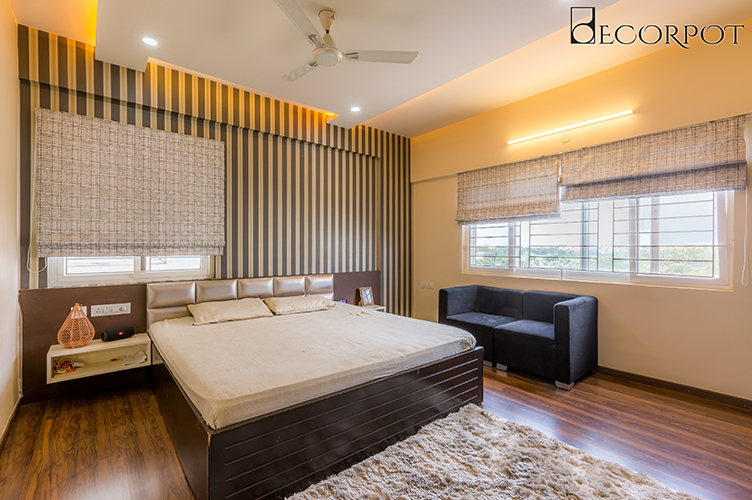 Bedroom Interior Design-MBR-3BHK, Sarjapur Road, Bangalore