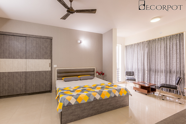 Bedroom Interior Design-MBR 2-3BHK, Sarjapur Road, Bangalore