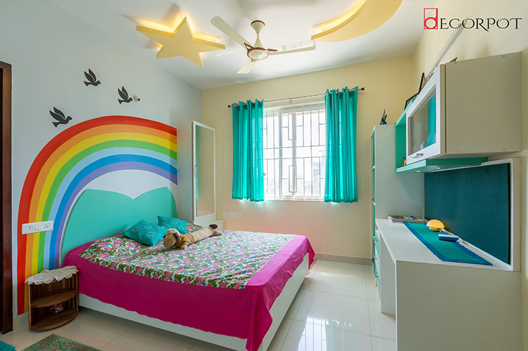Bedroom Interior Design-KBR-4BHK, Bellandur, Bangalore