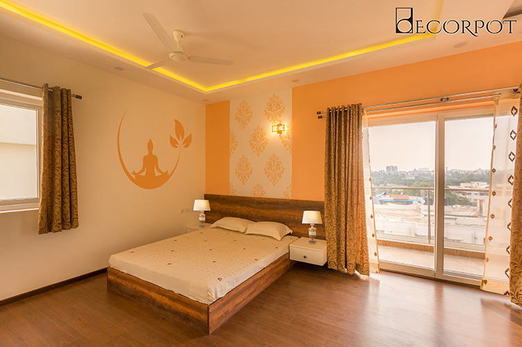 Bedroom Interior Design- MBR 2-3BHK, Bannerghatta Road, Bangalore